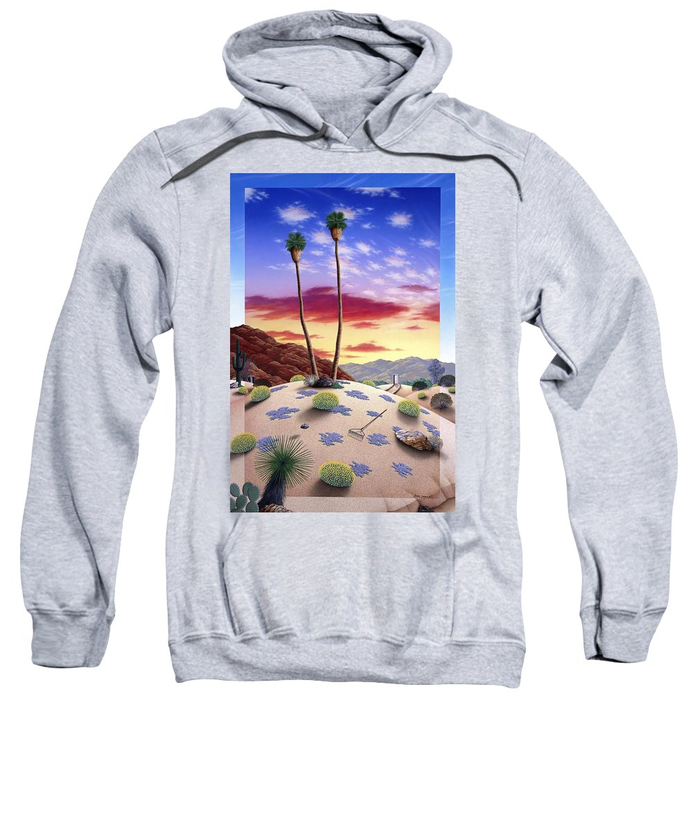 Desert Sweatshirt featuring the painting Desert Sunrise by Snake Jagger