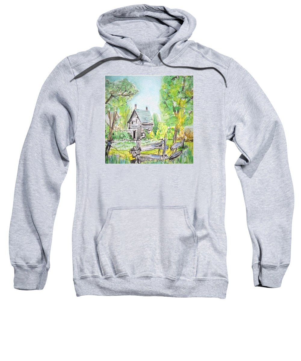 Nature Sweatshirt featuring the painting Deserted Sunrise by Lisa Cini