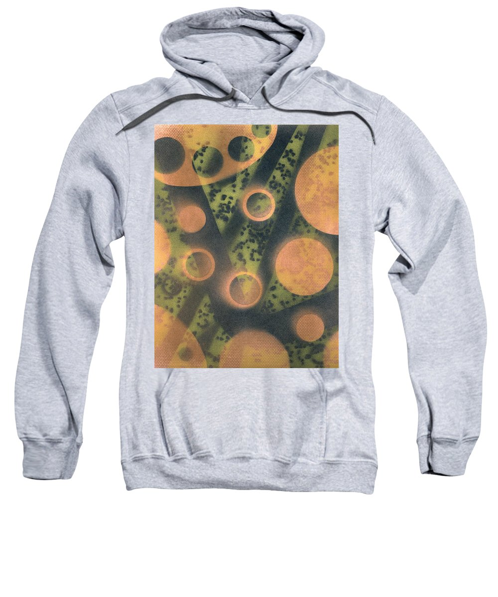 Destroy Mysteries Sweatshirt featuring the painting Destroy Mysteries by David Jacobi