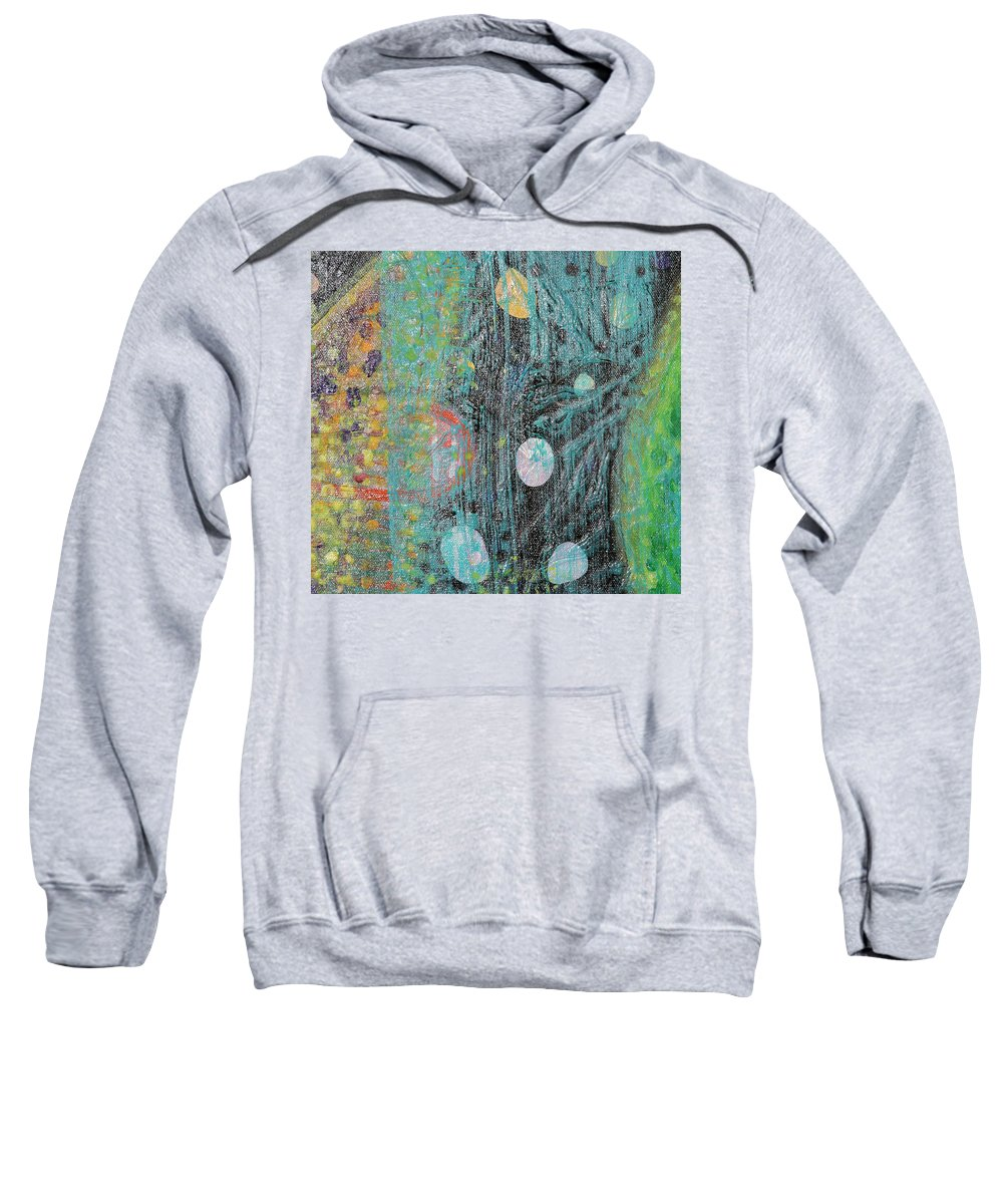 Psychedelic Sweatshirt featuring the painting Detail From Creation Of Adam And Eve by Anne Cameron Cutri
