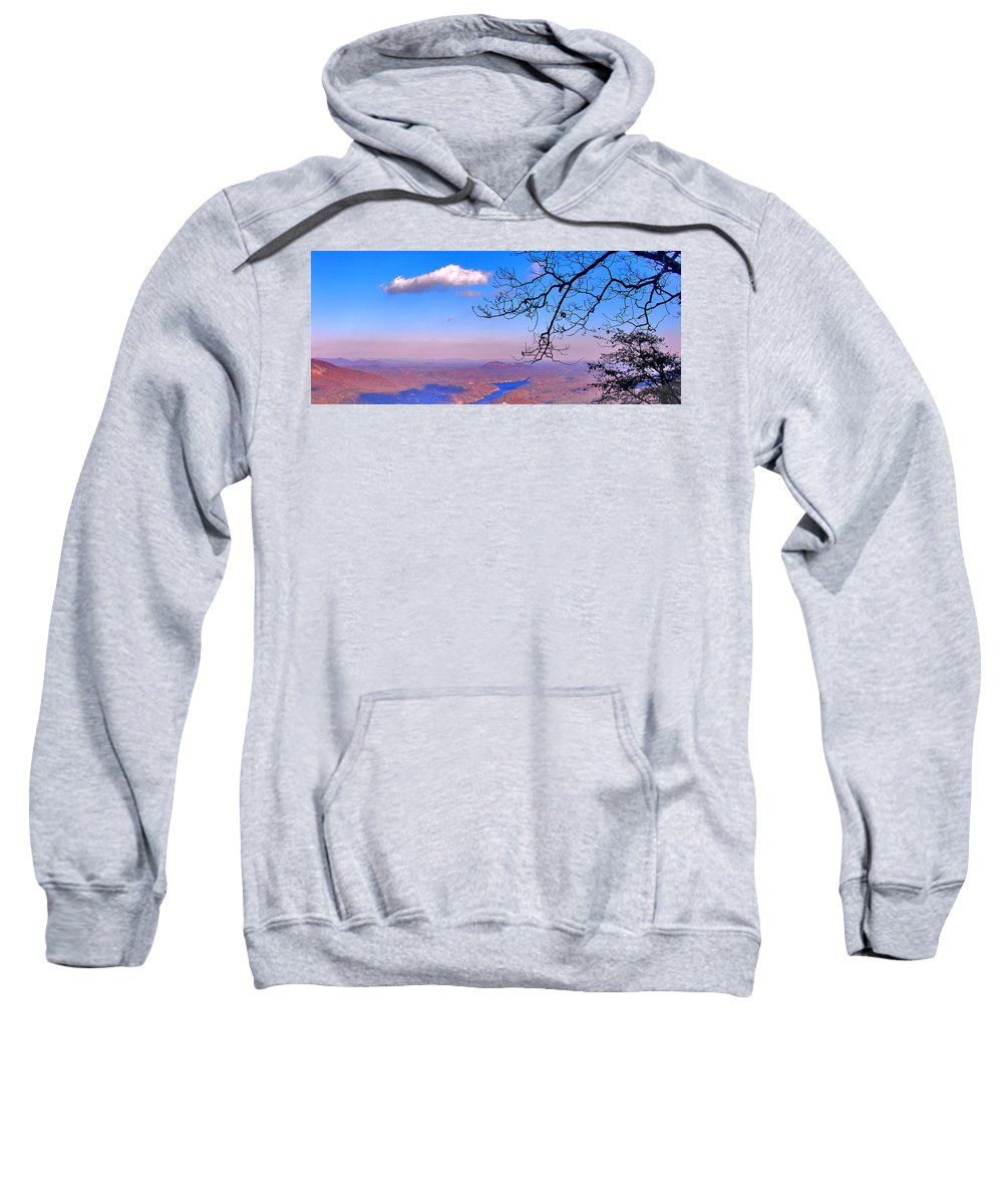 Landscape Sweatshirt featuring the photograph Detail From Reaching For A Cloud by Steve Karol