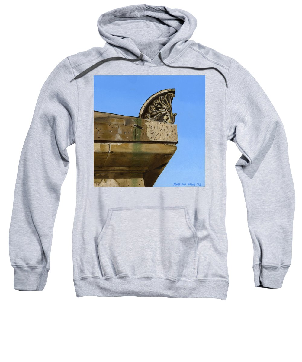 Building Sweatshirt featuring the painting Detail Lighthouse Egmond by Rob De Vries