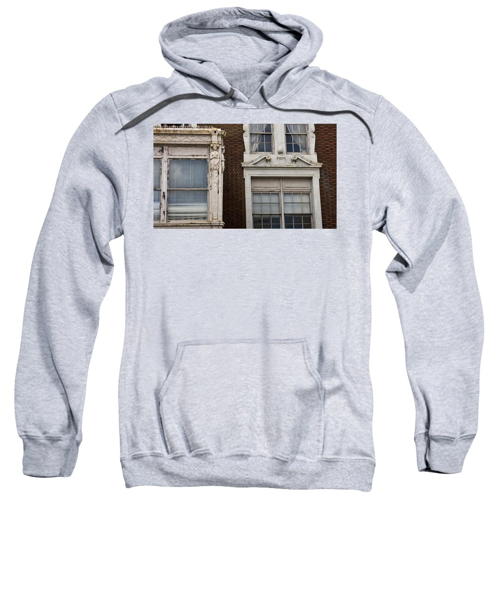 Roanoke Sweatshirt featuring the photograph Details Of The Patrick Henry Hotel Roanoke Virginia by Teresa Mucha