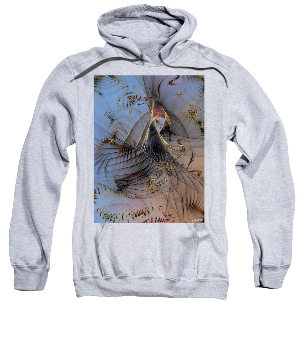 Abstract Sweatshirt featuring the digital art Deterministic Chaos by Casey Kotas