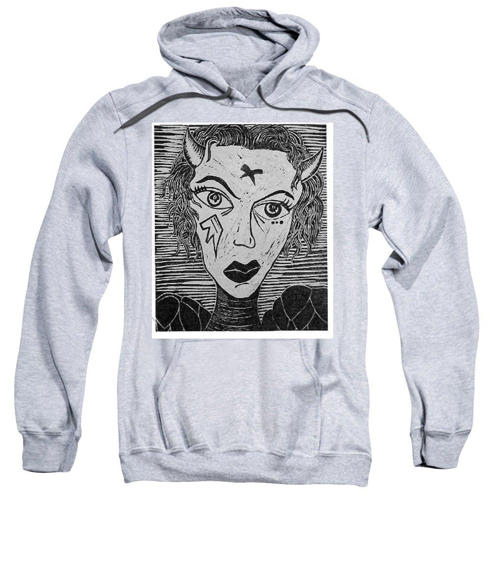 Prints Sweatshirt featuring the print Devil Print Two Out Of Five by Thomas Valentine