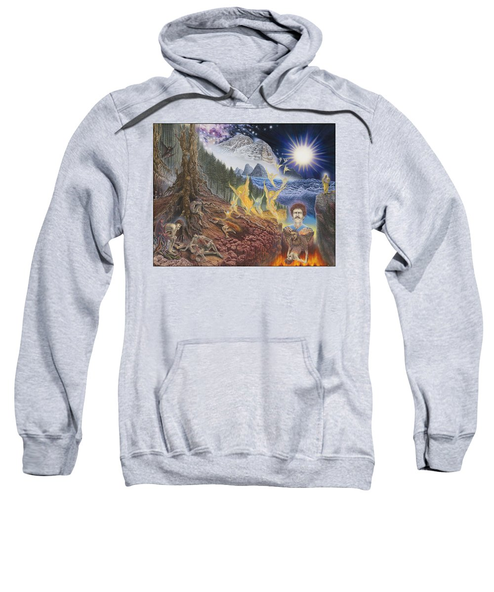 Surrealism Sweatshirt featuring the painting Diary of First Recognition by Leonard Rubins