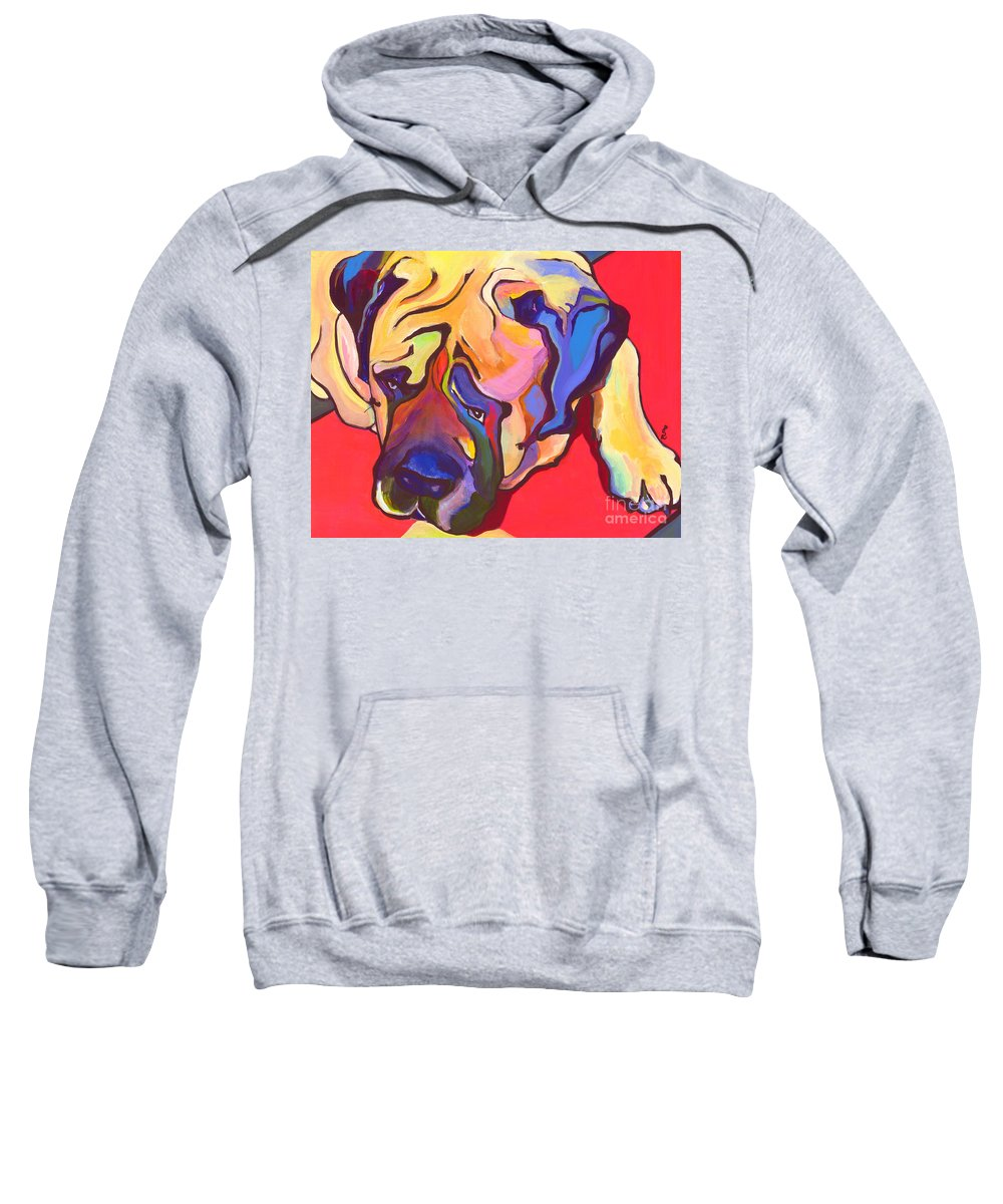 Mastiff Sweatshirt featuring the painting Diesel  by Pat Saunders-White