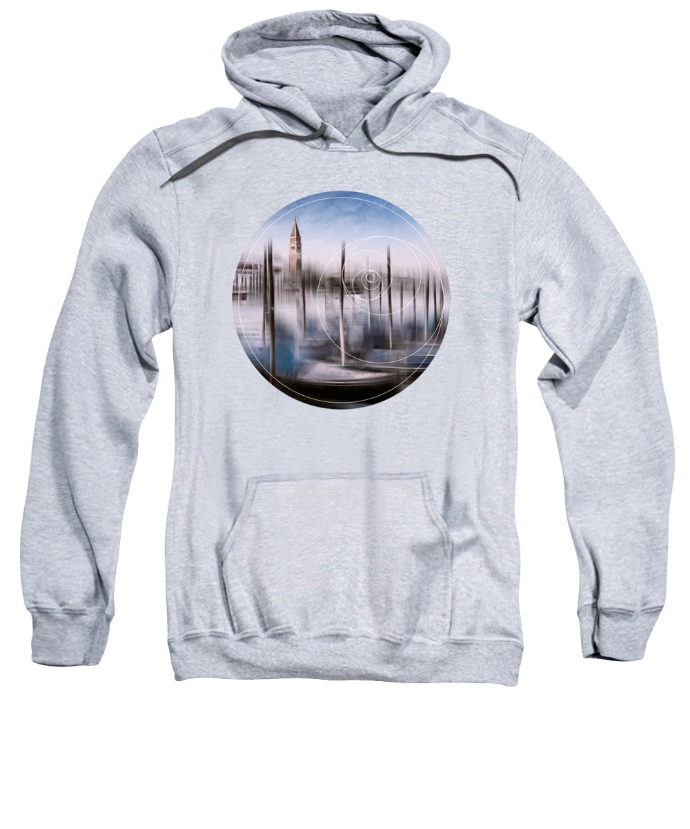 Abstract Sweatshirt featuring the photograph Digital-art Venice Grand Canal And St Mark's Campanile by Melanie Viola