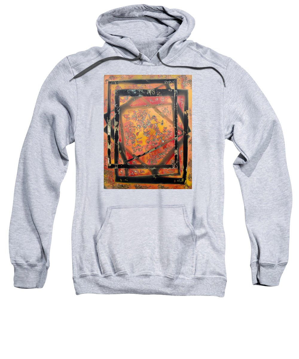 Colorful Sweatshirt featuring the painting Dimensions by Arlene Wright-Correll