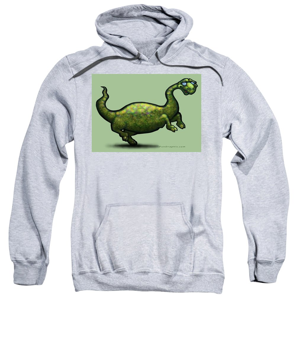 Dinosaur Sweatshirt featuring the painting Dinosaur by Kevin Middleton