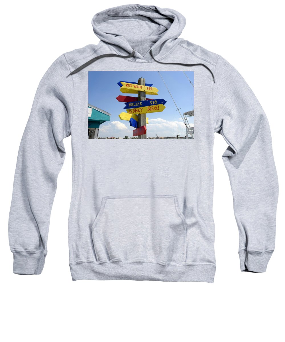 Paradise Sweatshirt featuring the photograph Directions To Paradise by David Lee Thompson
