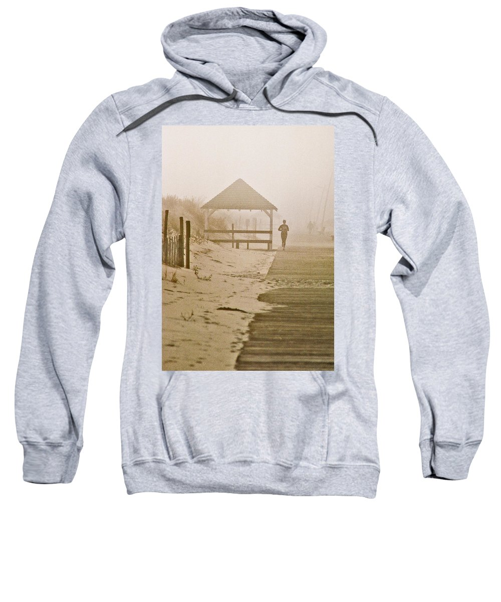 Landscape Sweatshirt featuring the photograph Disappearance by Steve Karol