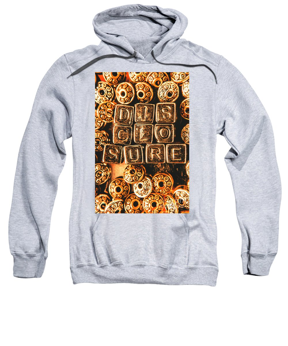 Disclosure Sweatshirt featuring the photograph Disclosure by Jorgo Photography - Wall Art Gallery