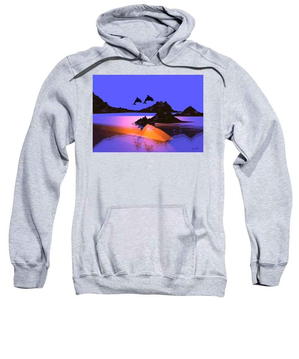 Dolphin Sweatshirt featuring the digital art Discovery by Robert Orinski