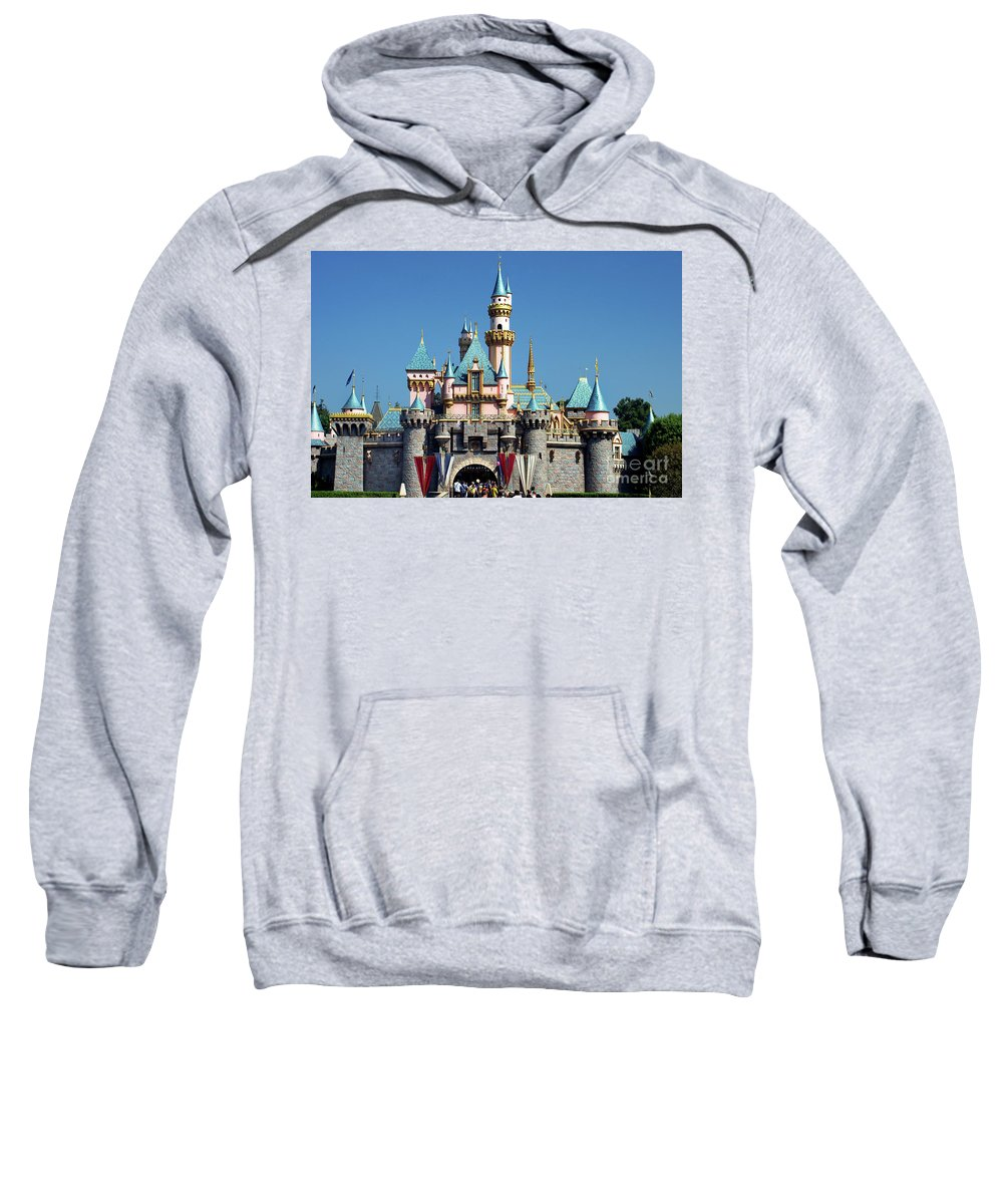 Disney Castle Sweatshirt featuring the photograph Disneyland Castle by Mariola Bitner
