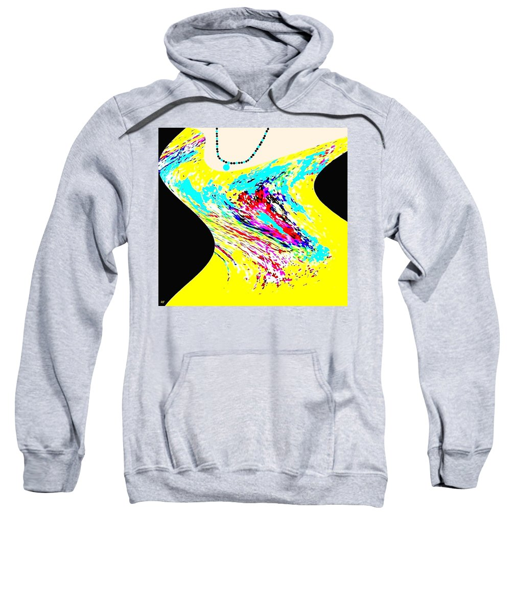 Abstract Sweatshirt featuring the digital art Diva by Will Borden