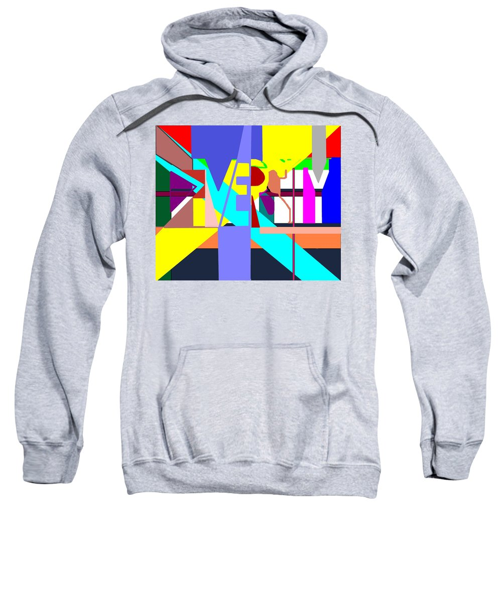 Diversity Sweatshirt featuring the digital art Diversity Enmeshed by Pharris Art