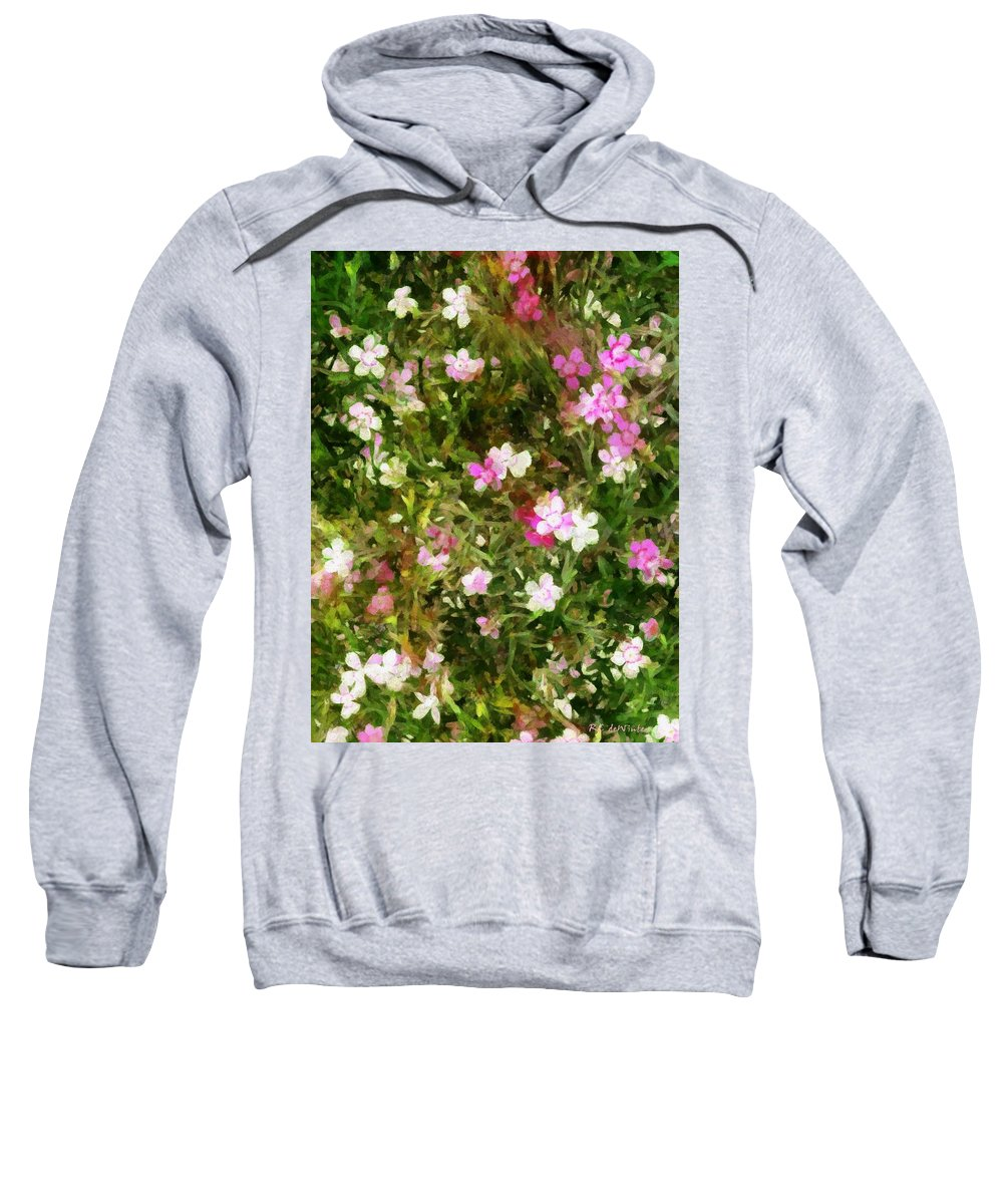 Dianthus Sweatshirt featuring the painting Divine Maidens by RC DeWinter