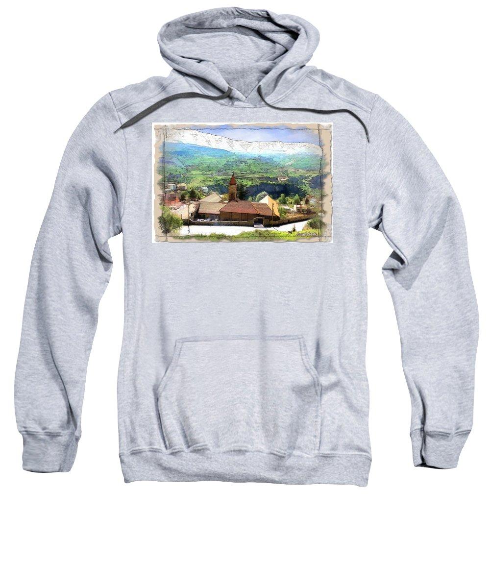 Church Sweatshirt featuring the photograph Do-00434 Church In North Lebanon by Digital Oil