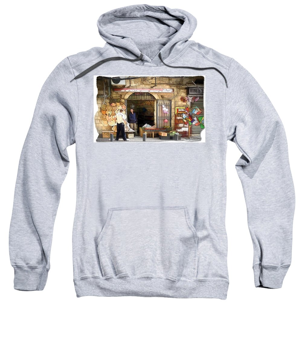 Old Sweatshirt featuring the photograph Do-00440 Old Shop by Digital Oil