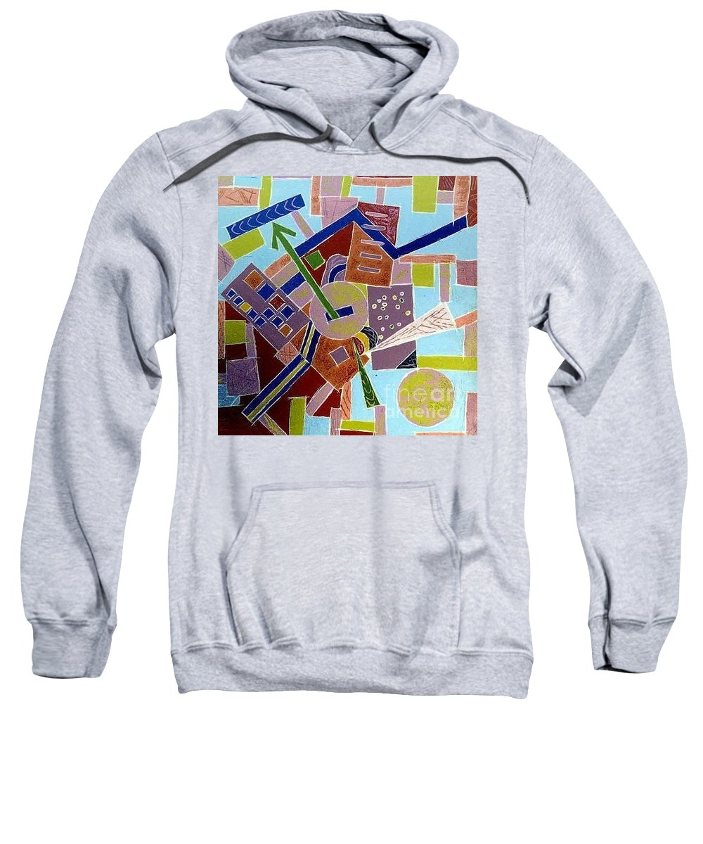 Abstract Sweatshirt featuring the painting Do You Know The Way To San Jose by Dawn Hough Sebaugh
