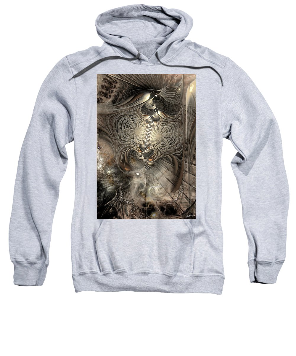 Abstract Sweatshirt featuring the digital art Doctrinal Entrapment by Casey Kotas