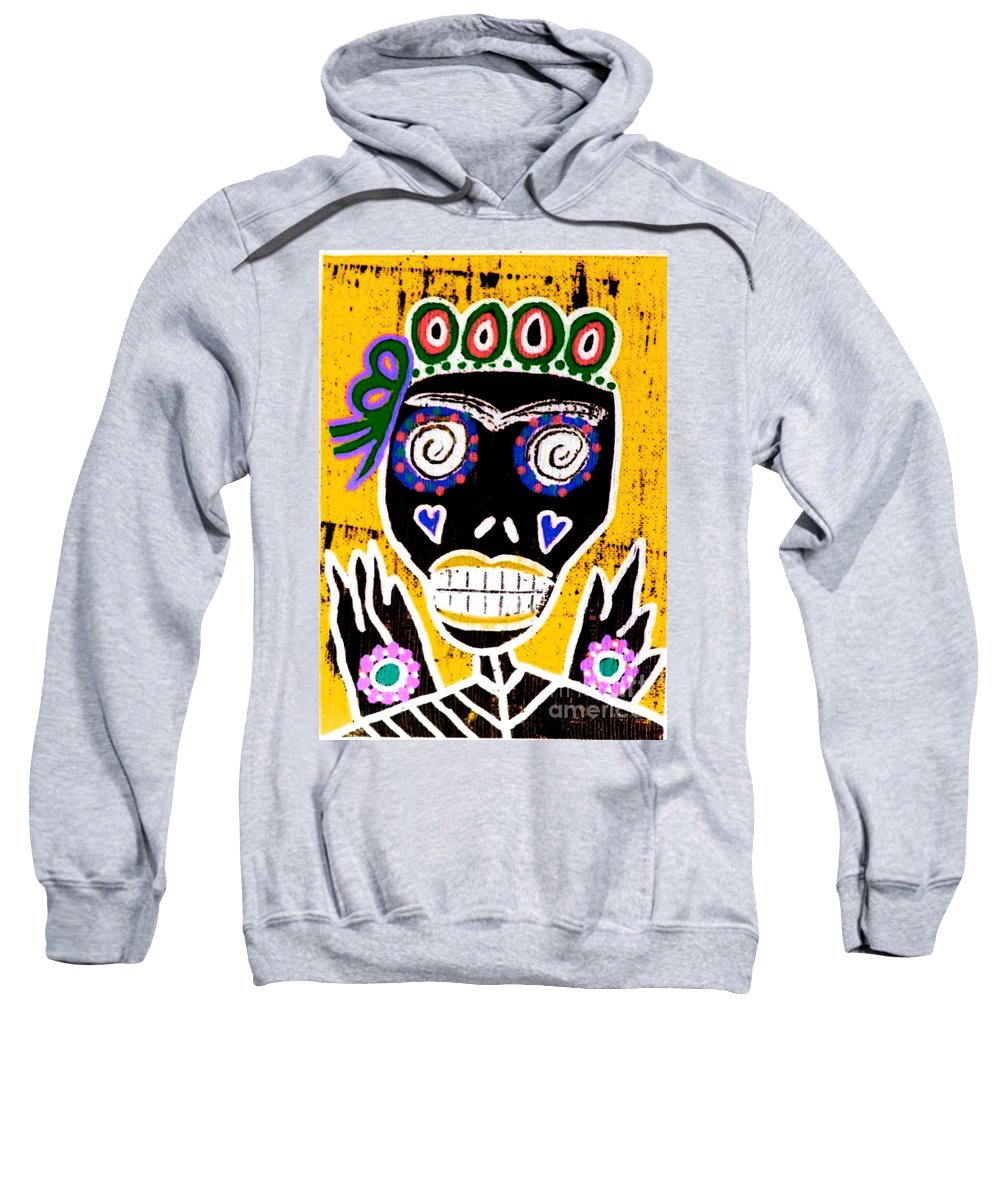 Sweatshirt featuring the mixed media Dod Art 123kuy by Sandra Silberzweig