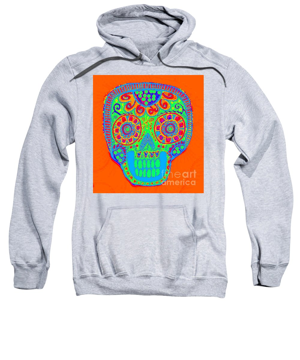 Sweatshirt featuring the mixed media Dod Art 123or by Sandra Silberzweig