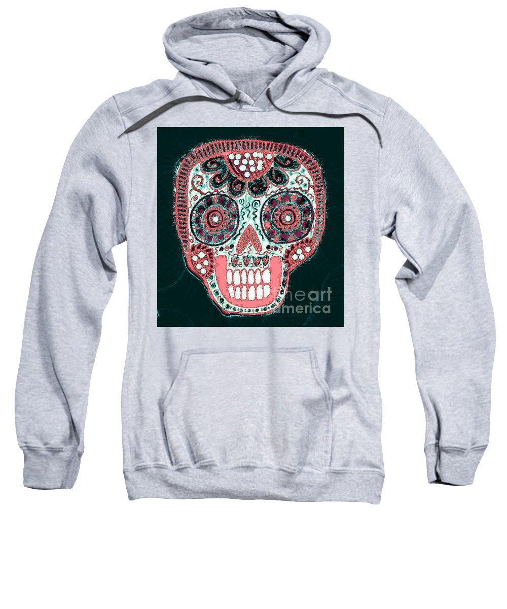 Sweatshirt featuring the mixed media Dod Art 123p by Sandra Silberzweig