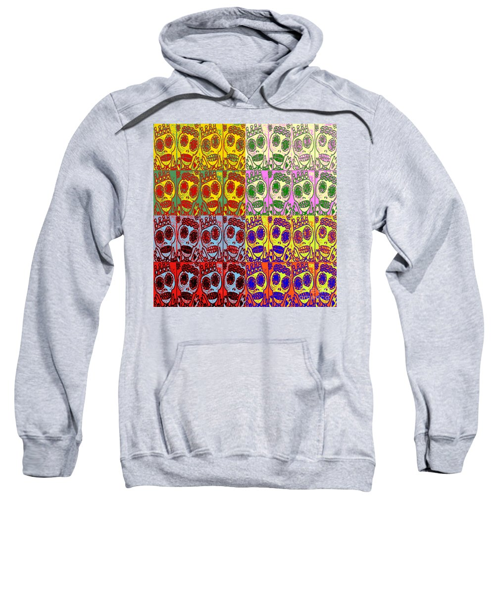 Sweatshirt featuring the mixed media Dod Art 123yelm by Sandra Silberzweig
