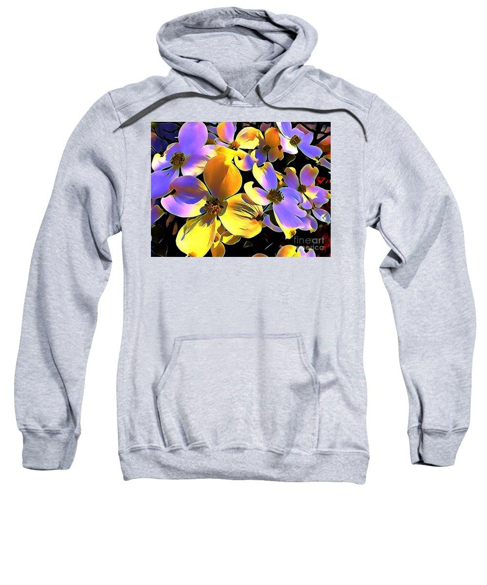 Dogwood Sweatshirt featuring the mixed media Dogwood Blossoms by Glenn Wilson Boerstler II