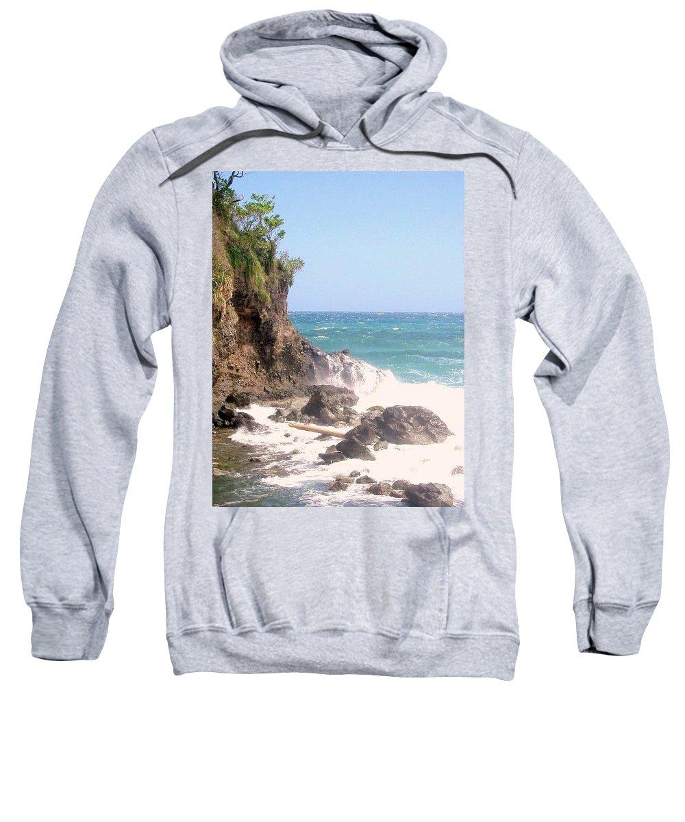 Dominica Sweatshirt featuring the photograph Dominica North Atlantic Coast by Ian MacDonald