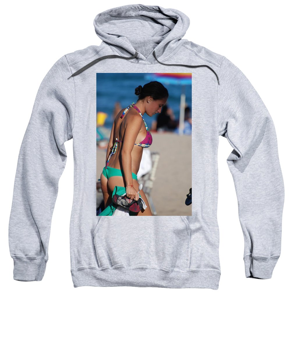 Girl Sweatshirt featuring the photograph Domino by Rob Hans