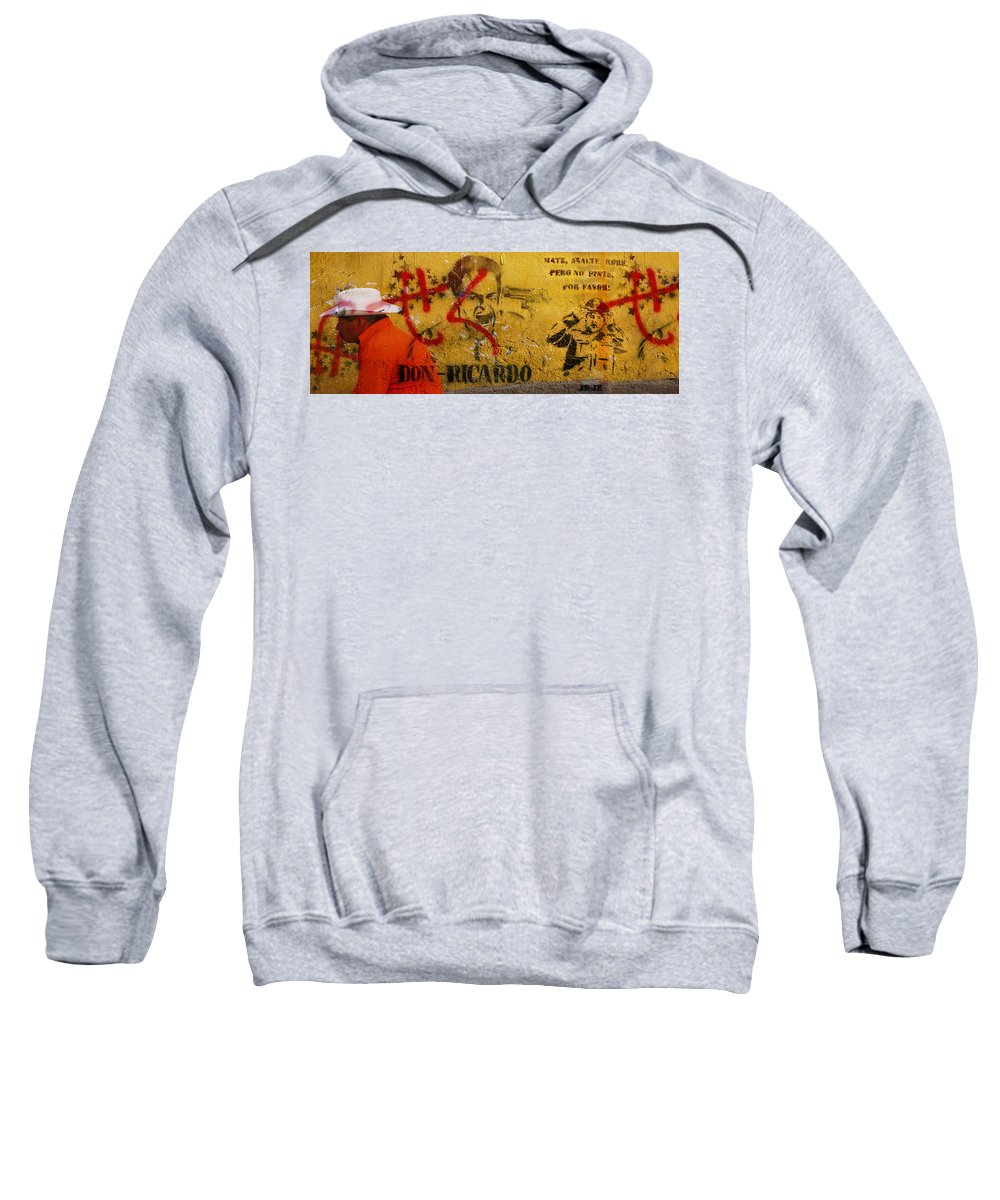 Grafitti Sweatshirt featuring the photograph Don-Ricardo by Skip Hunt
