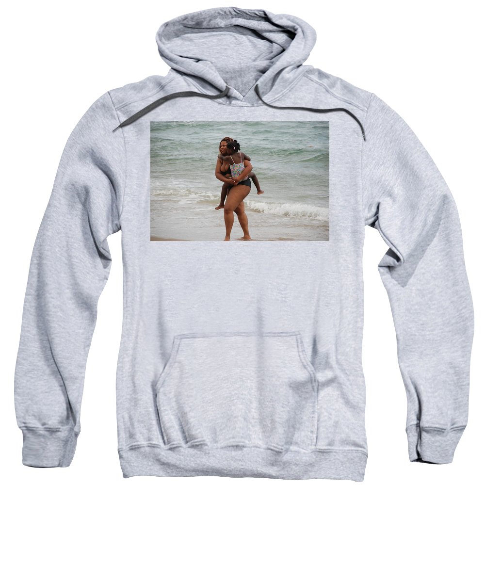 Sea Scape Sweatshirt featuring the photograph Done For The Day by Rob Hans
