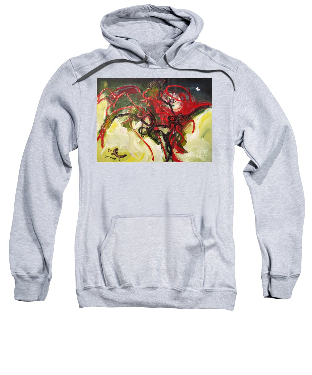 Abstract Paintings Paintings Abstract Art Paintings Sweatshirt featuring the painting Don't Bother Me by Seon-Jeong Kim