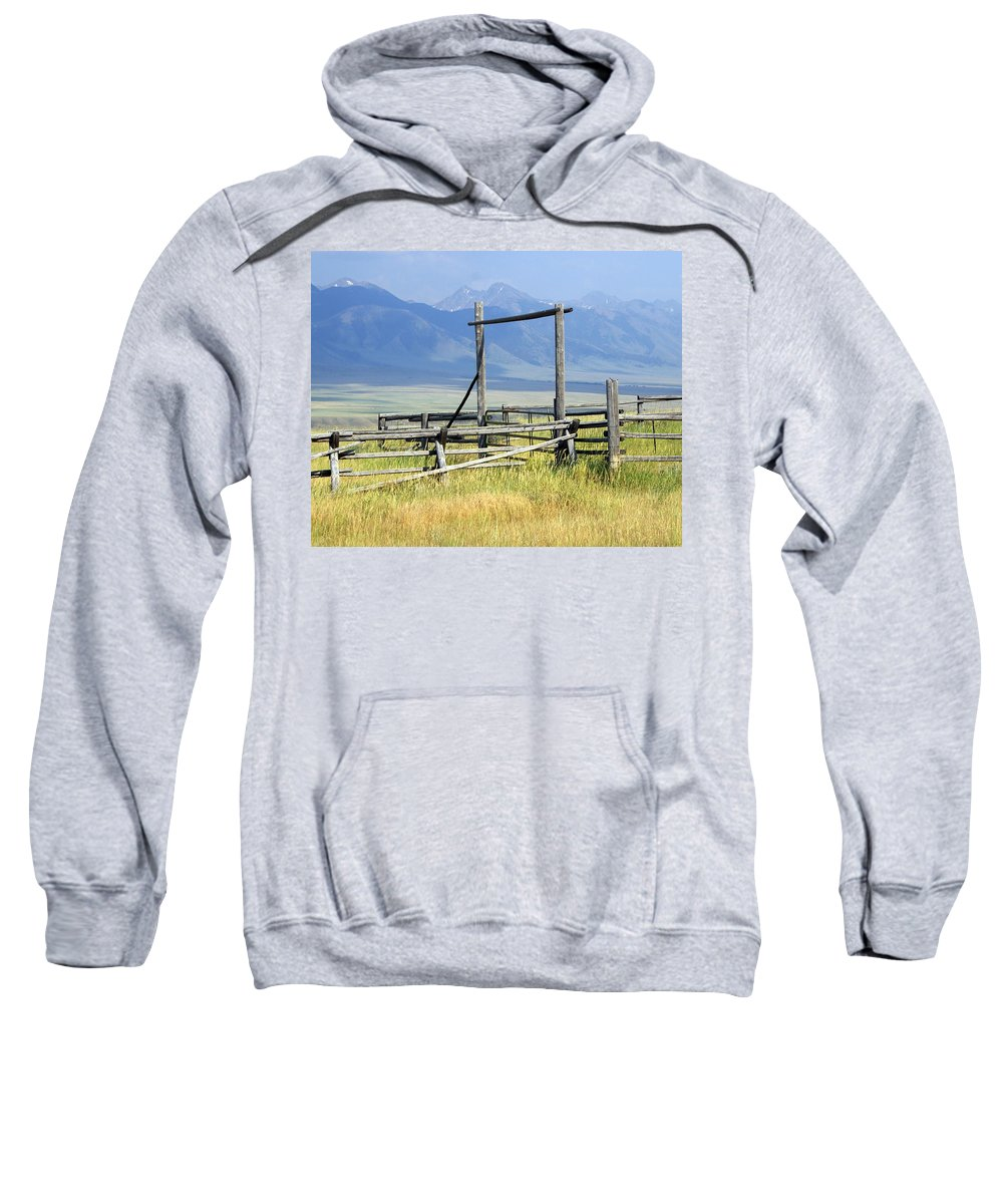 Mountains Sweatshirt featuring the photograph Don't Fence Me In by Marty Koch