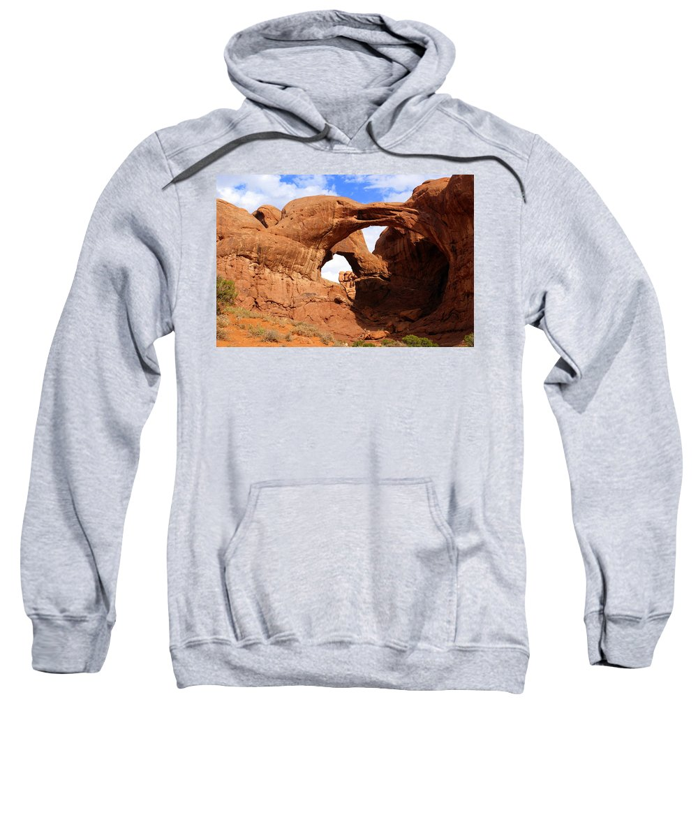 Southwest Art Sweatshirt featuring the photograph Double Arch by Marty Koch