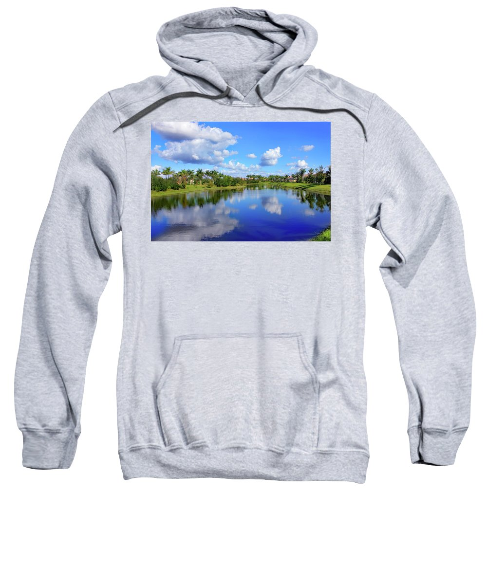 Bonita Springs Sweatshirt featuring the photograph Double Impression by Iryna Goodall
