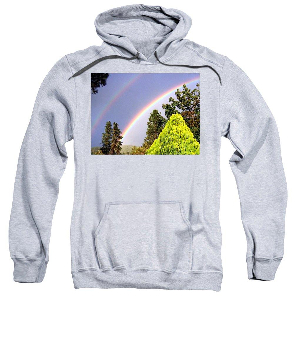 Rainbow Sweatshirt featuring the photograph Double Rainbow by Will Borden