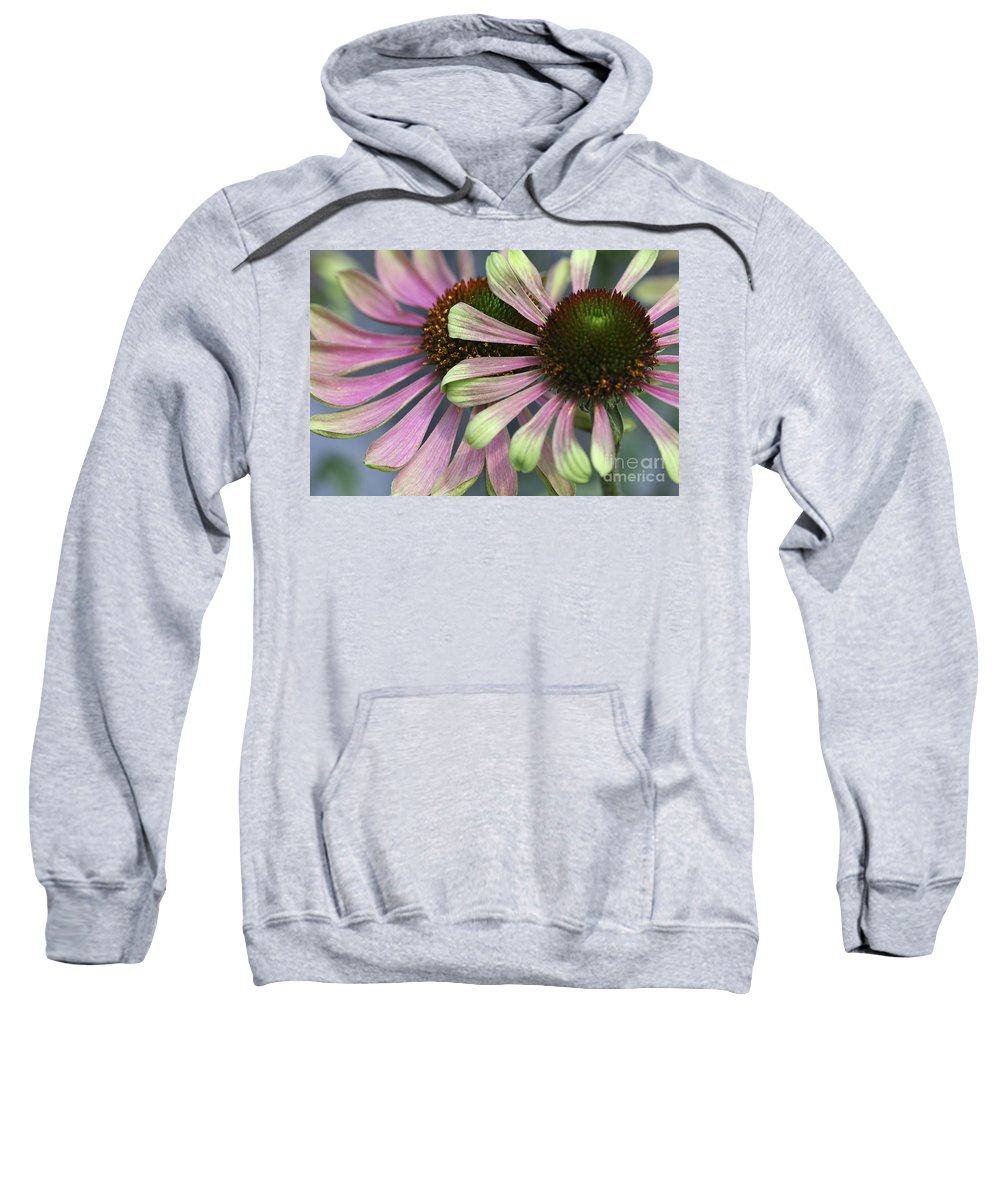 Flower Sweatshirt featuring the photograph Double Vision Cone by Deborah Benoit