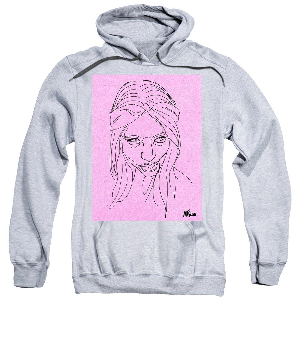 Portrait Sweatshirt featuring the digital art Doubtful by Michael Kallstrom