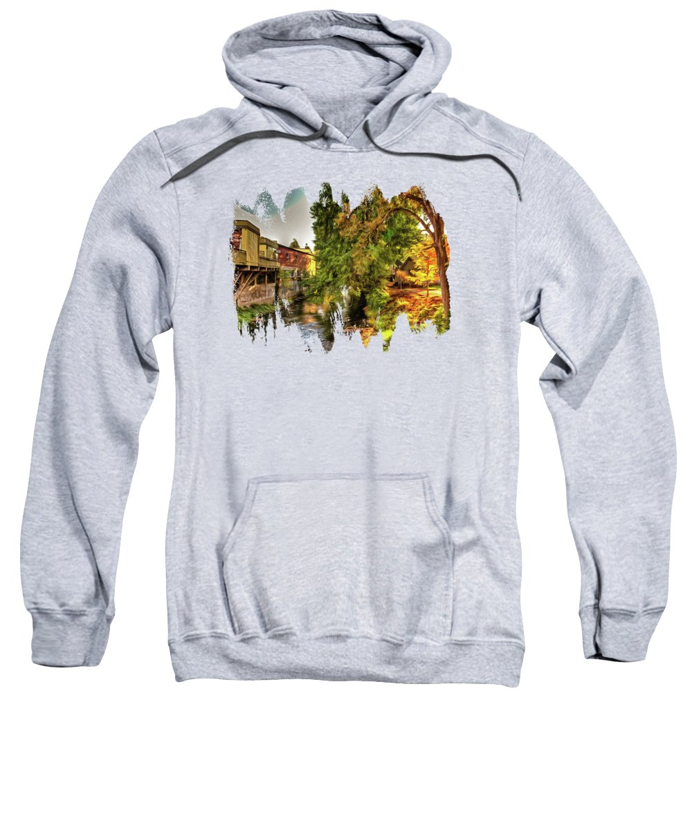 Hdr Sweatshirt featuring the photograph Down By The Creek by Thom Zehrfeld