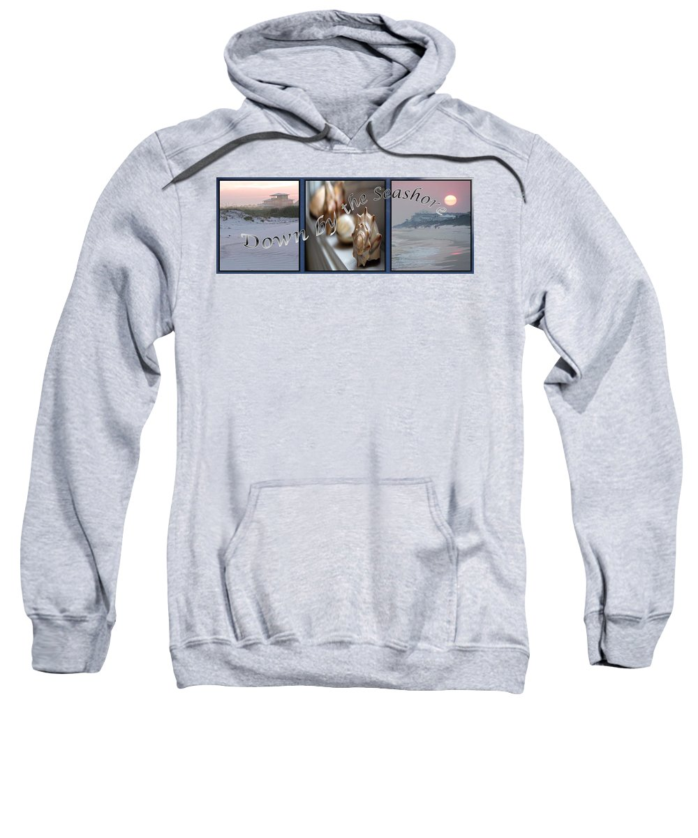 Shells Sweatshirt featuring the digital art Down By The Seashore by Robert Meanor