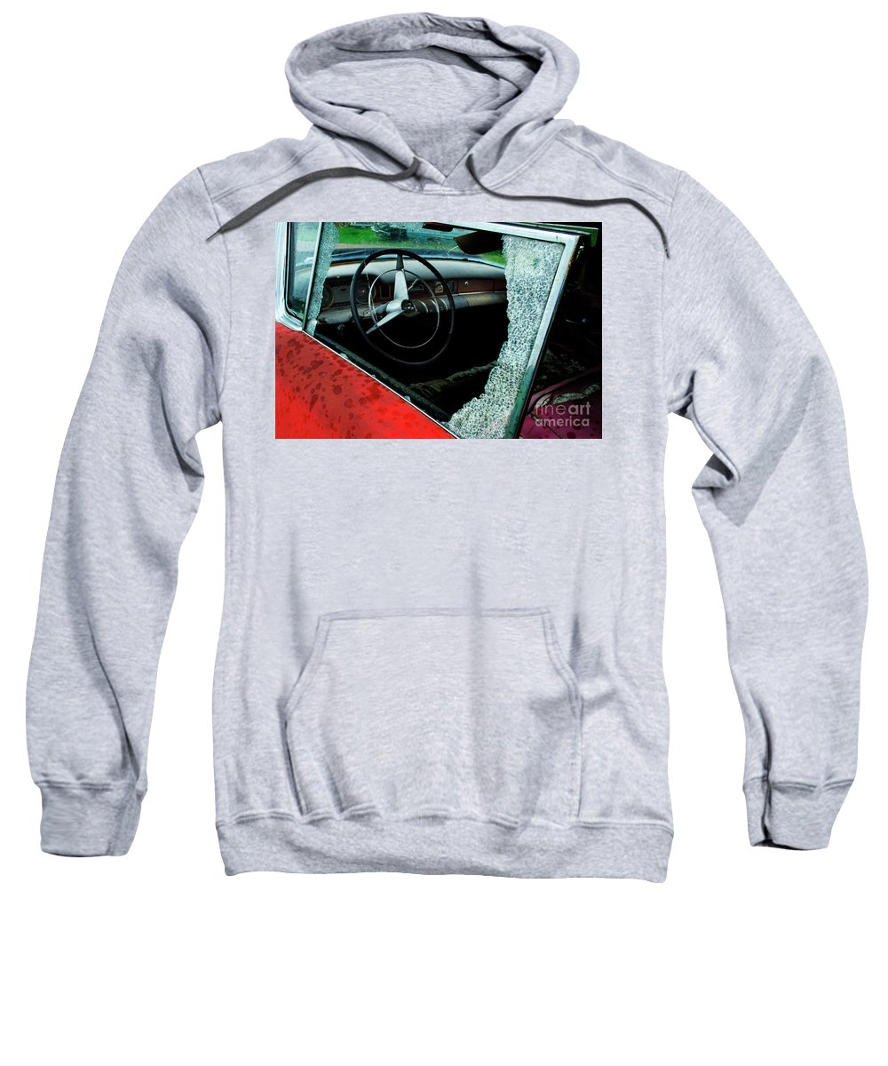 Antiques Sweatshirt featuring the photograph Down In The Dumps 13 by Bob Christopher