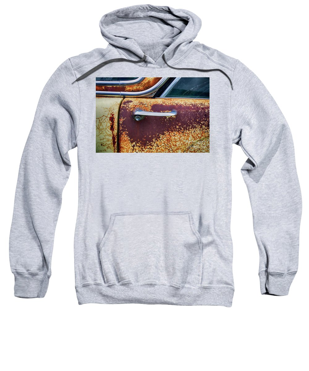 Antiques Sweatshirt featuring the photograph Down In The Dumps 15 by Bob Christopher