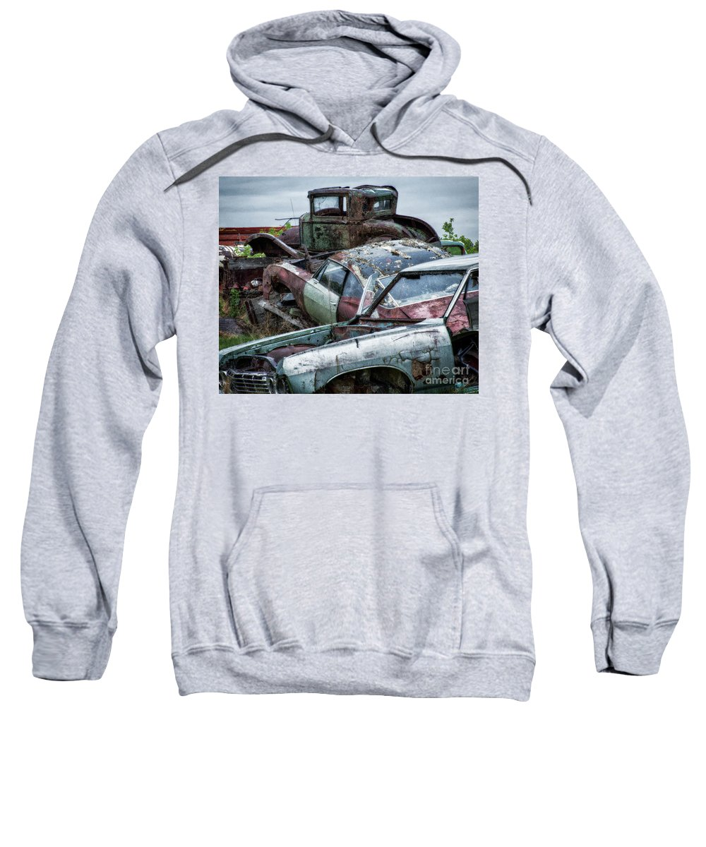 Antiques Sweatshirt featuring the photograph Down In The Dumps 3 by Bob Christopher