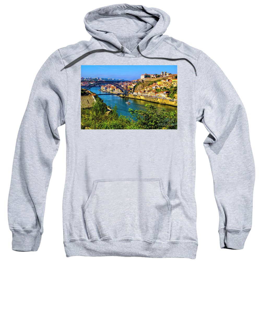 Porto Sweatshirt featuring the photograph Down River by Roberta Bragan