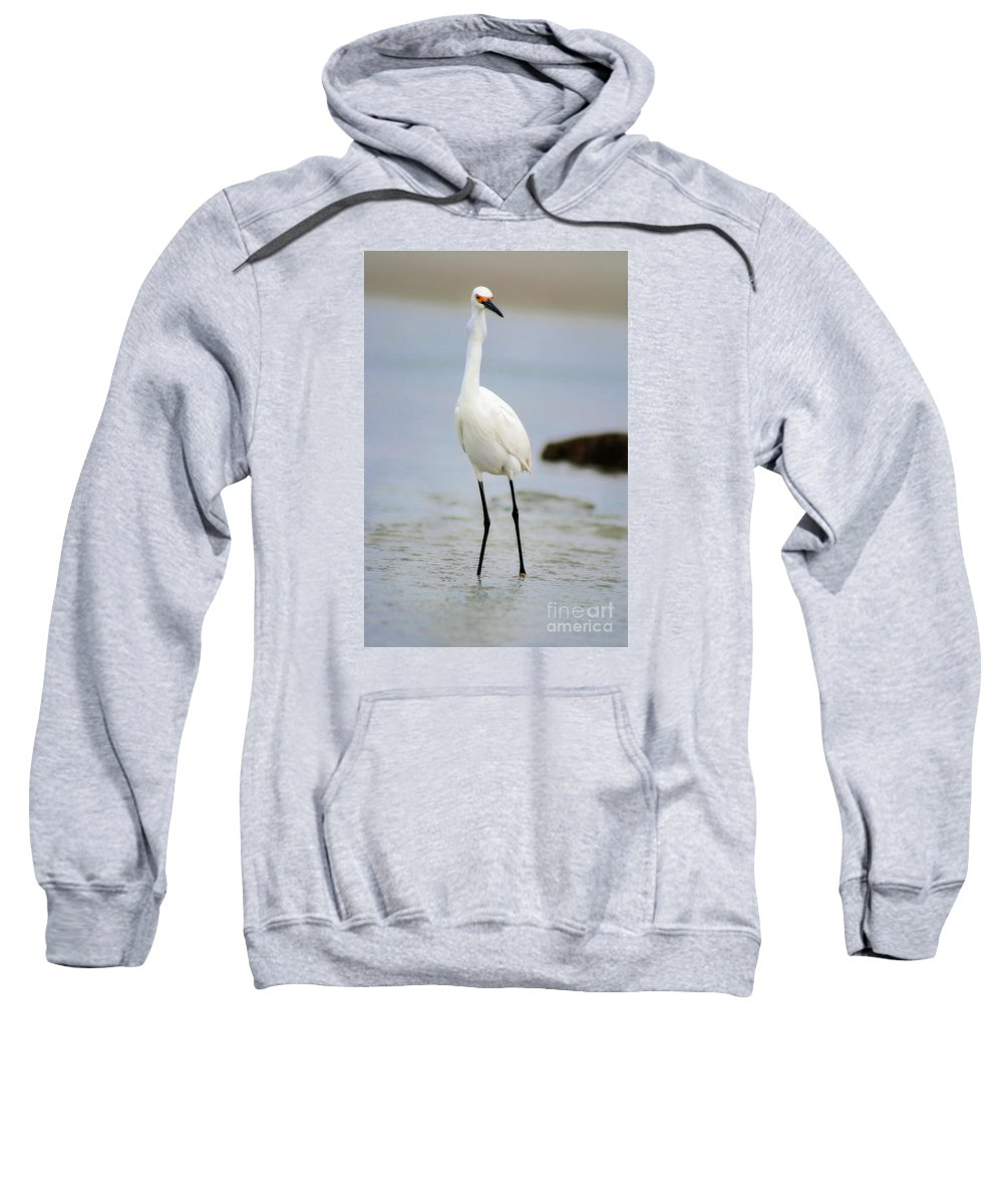Sweatshirt featuring the photograph Down The Hatch The Fish Goes by Angela Rath