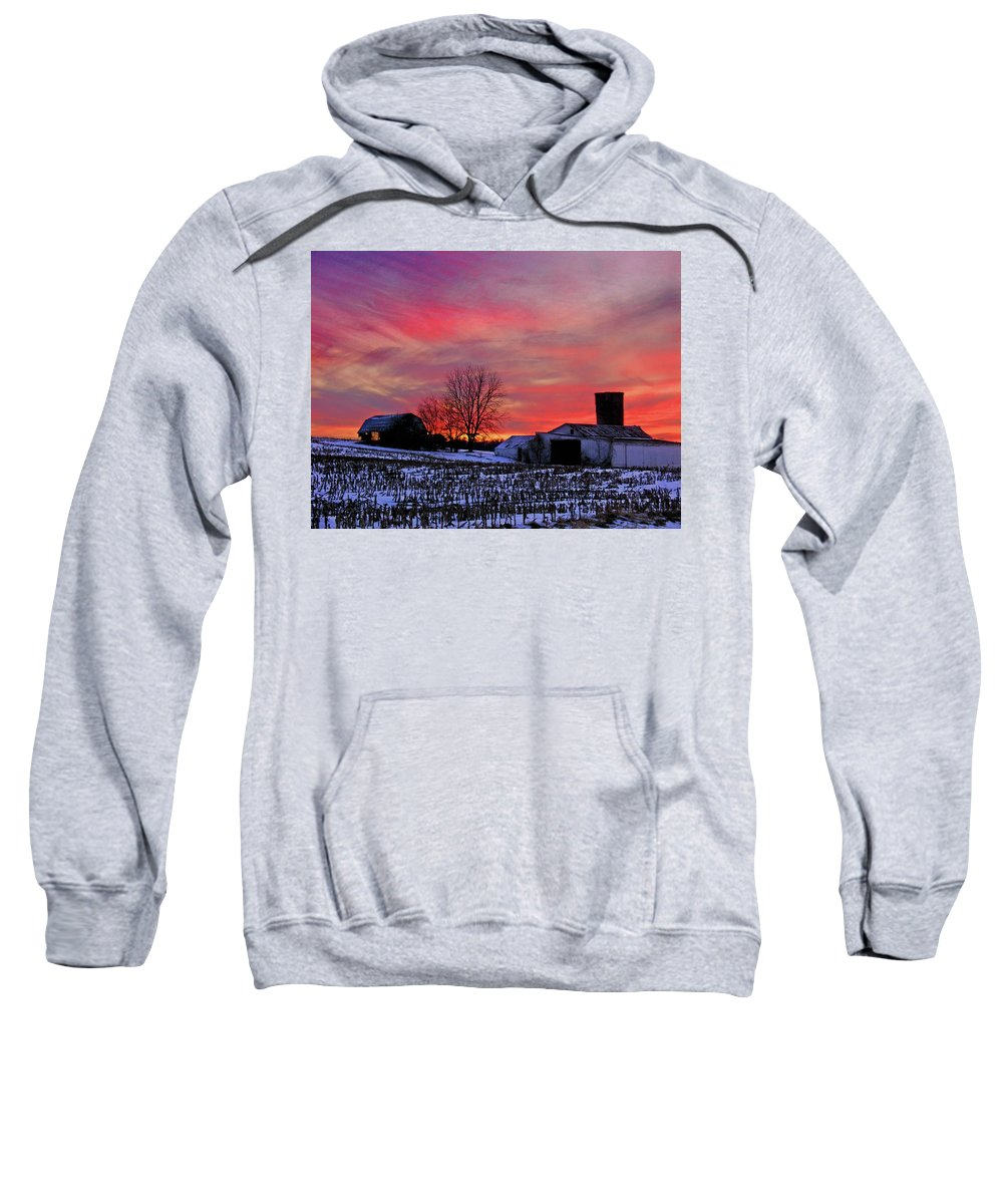 Rural Sweatshirt featuring the photograph Down the Street from Daranya's House by Steve Karol